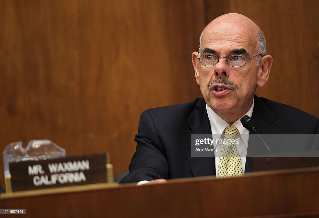 U.S. Rep. <a gi-track='captionPersonalityLinkClicked' href=/galleries/search?phrase=Henry+Waxman&family=editorial&specificpeople=217361 ng-click='$event.stopPropagation()'>Henry Waxman</a> (D-CA) speaks during a hearing before the Energy and Power Subcommittee of the House Energy and Commerce Committee May 31, 2011 on Capitol Hill in Washington, DC. The hearing was to examine the protection of the nation's electric grid from physical and cybersecurity threats and vulnerabilities.