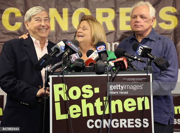 US Rep Ileana RosLehtinen center reminds Holocaust survivor David Mermelstein left that her remaining days in Congress will be to fight for...