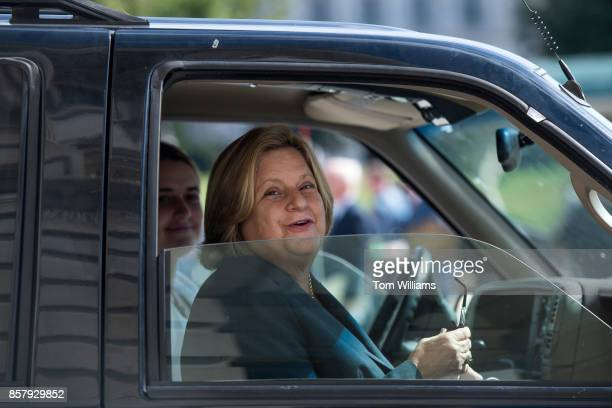 Rep Ileana RosLehtinen RFla leaves the Capitol after the last votes of the week on October 5 2017