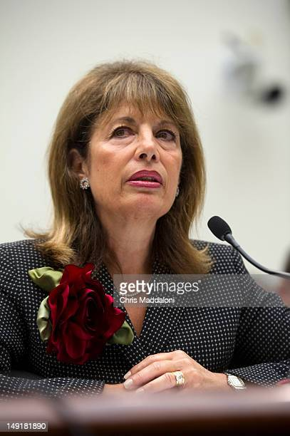 Rep Jackie Speier DCalif testifies before a House Judiciary committee hearing on HR3179 the 'Marketplace Equity Act of 2011' to improve the states'...