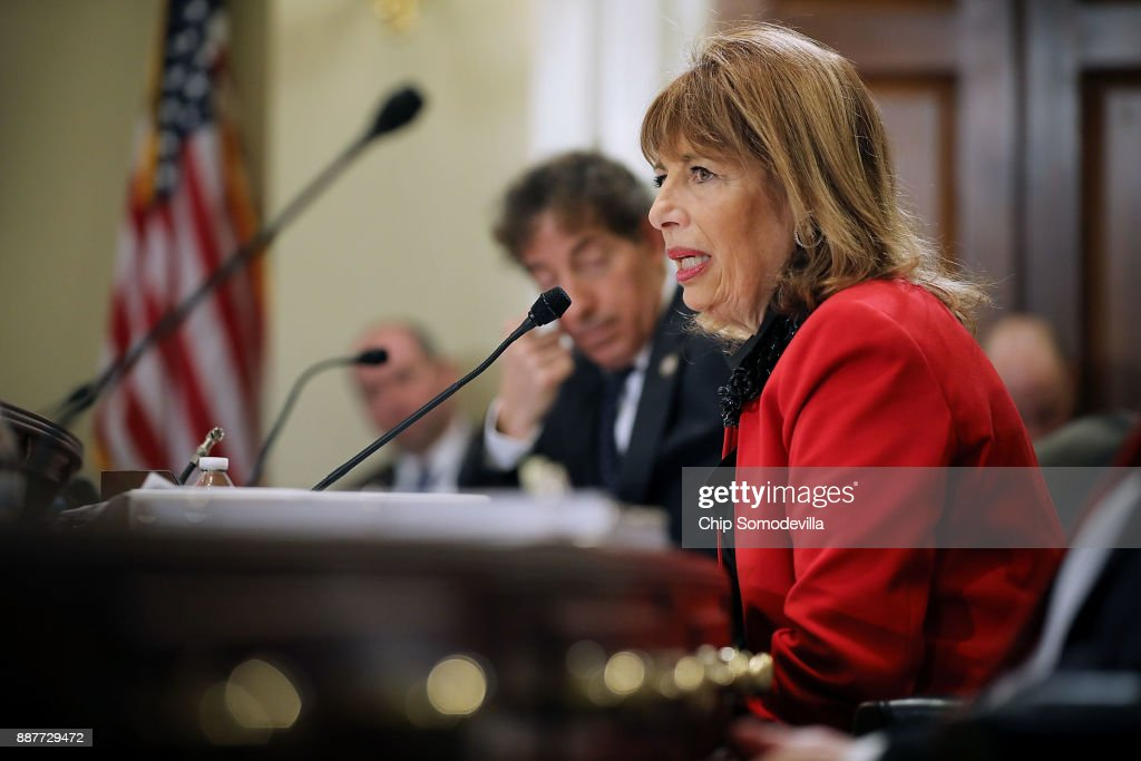 Rep. Jackie Speier (D-CA) delivers opening remarks during a hearing of the House Administration Committee about preventing sexual harassment in Congress in the Longworth House Office Building on Capitol Hill December 7, 2017 in Washington, DC. Committee members and staff tasked with handling sexual harassment cases in Congress agreed that the Congressional Accountability Act of 1995 needs to be revisited and reformed in the wake of recent accusations of harassment and resulting resignations.