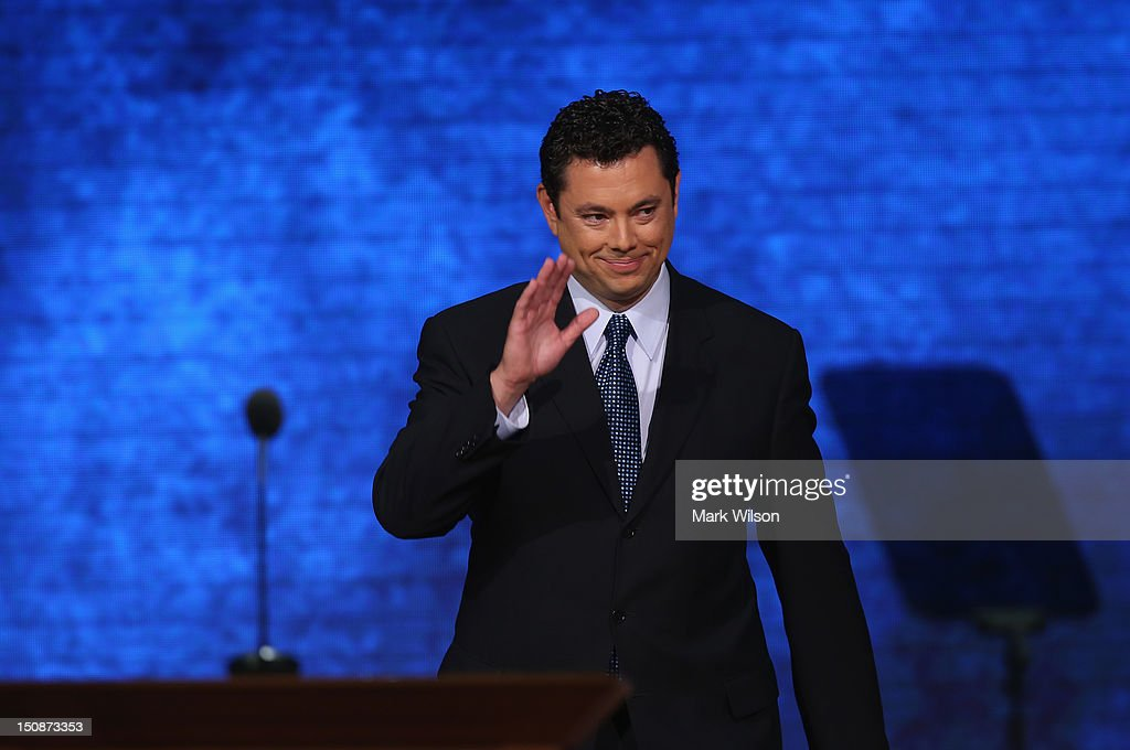 U.S. Rep. <a gi-track='captionPersonalityLinkClicked' href=/galleries/search?phrase=Jason+Chaffetz&family=editorial&specificpeople=5610304 ng-click='$event.stopPropagation()'>Jason Chaffetz</a> (R-UT) during the Republican National Convention at the Tampa Bay Times Forum on August 28, 2012 in Tampa, Florida. Today is the first full session of the RNC after the start was delayed due to Tropical Storm Isaac.