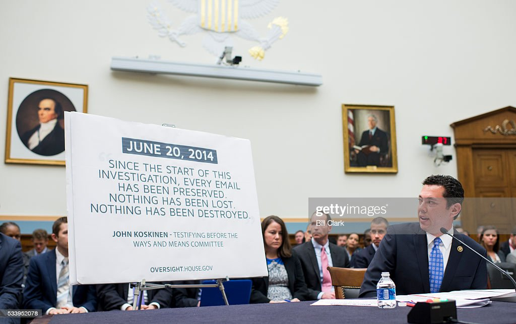 Rep. Jason Chaffetz, R-Utah, left, and Rep. Ron DeSantis, R-Fla., testifies during the House Judiciary Committee hearing on 'Examining the Allegations of Misconduct Against IRS Commissioner John Koskinen, Part 1' on Tuesday, May 24, 2016.