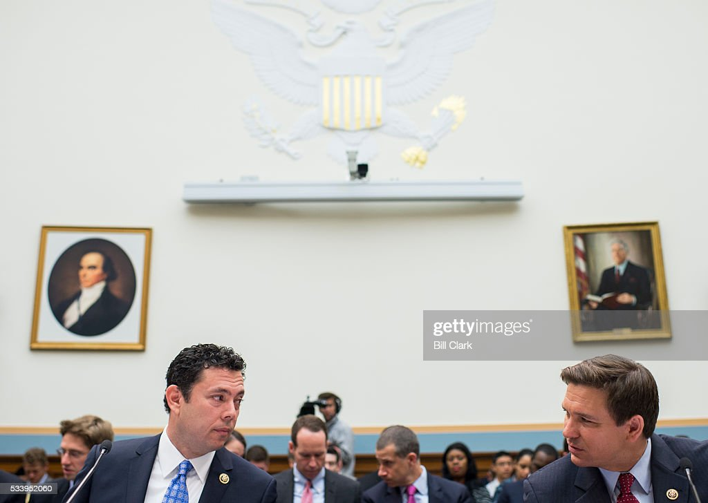Rep. Jason Chaffetz, R-Utah, left, and Rep. Ron DeSantis, R-Fla., testify during the House Judiciary Committee hearing on 'Examining the Allegations of Misconduct Against IRS Commissioner John Koskinen, Part 1' on Tuesday, May 24, 2016.