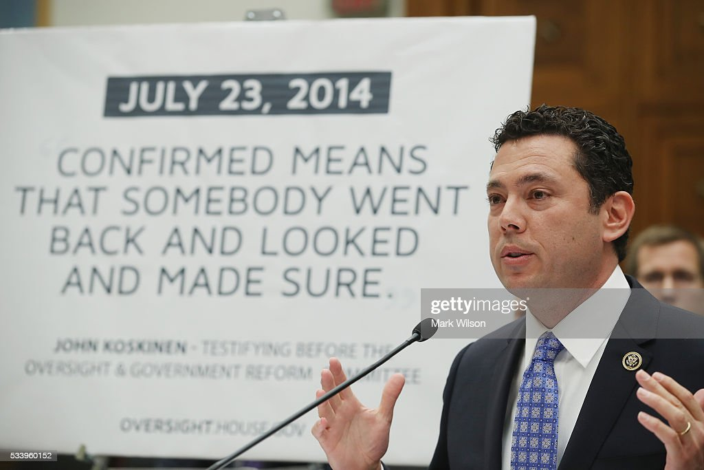 Rep. Jason Chaffetz (R-UT), testifies during a House Judiciary Committee hearing on Capitol Hill, May 24, 2016 in Washington, DC. The committee was examining the allegations of misconduct against IRS Commissioner John Koskinen.