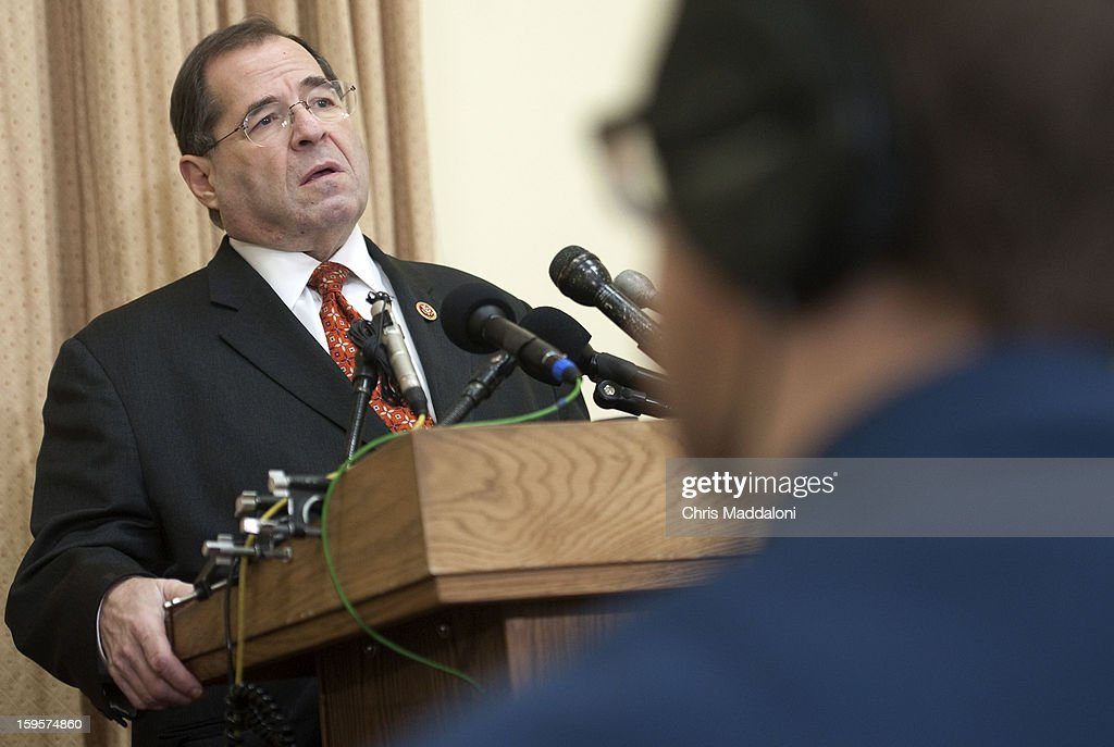 Rep. Jerrold Nadler, D-NY, speaks during a news conference to announce new legislation to eliminate the federal debt ceiling.