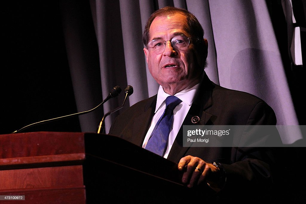 U.S. Rep. <a gi-track='captionPersonalityLinkClicked' href=/galleries/search?phrase=Jerrold+Nadler&family=editorial&specificpeople=807892 ng-click='$event.stopPropagation()'>Jerrold Nadler</a> (D-NY) speaks at the 7th Annual 'We Write The Songs' Concert at The Library of Congress on May 12, 2015 in Washington, DC.
