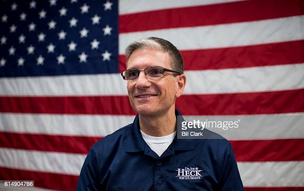 Rep Joe Heck RNev Republican candidate for US Senate from Nevada speaks to campaign staff and volunteers at his campaign office in Henderson Nev on...