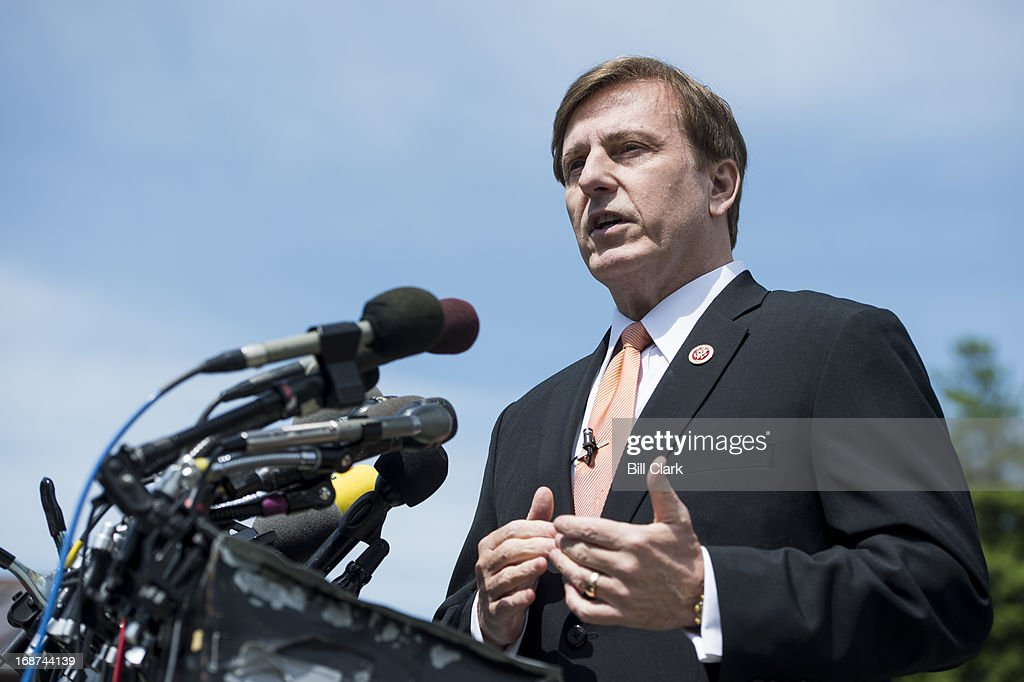 Rep John Fleming RLa speaks during a news conference at the House Triangle on immigration reform on Tuesday May 14 2013