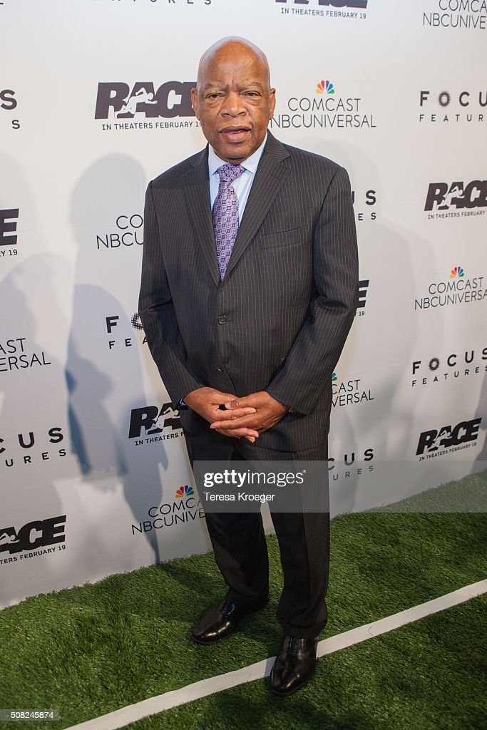 Rep. John Lewis (D-GA) attends the Washington, DC premiere of 'Race' at The Newseum on February 3, 2016 in Washington, DC.