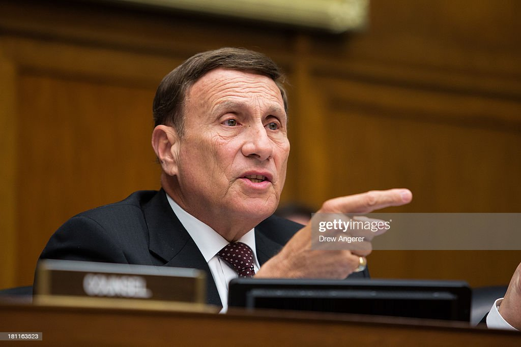 Rep. John Mica (R-FL) questions the witnesses during a House Oversight Committee hearing entitled 'Reviews of the Benghazi Attack and Unanswered Questions,' in the Rayburn House Office Building on Capitol Hill, September 19, 2013 in Washington, DC. Committee Chairman Darrell Issa (R-CA) is continuing to lead the GOP investigation of the Sept. 11, 2012, assaults that killed U.S. Ambassador J. Christopher Stevens and three other Americans at the U.S. Consulate in Benghazi, Libya.