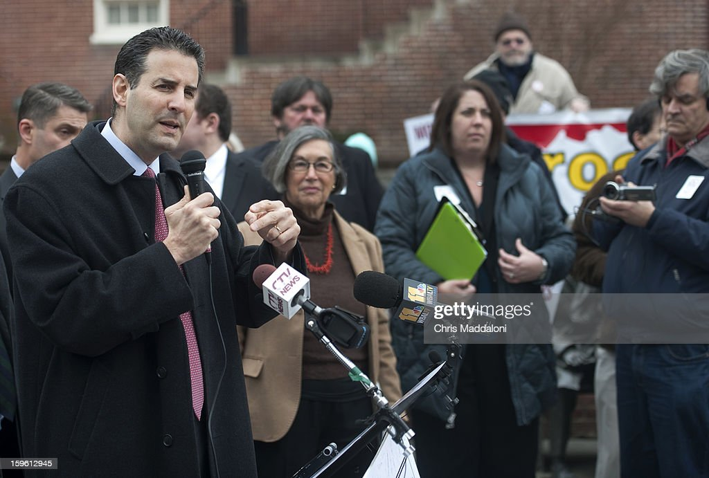 Rep. John Sarbanes, D-Md., joined other Maryland politicians and community leaders at a rally in front of the Maryland State House to 'fight secret spending in our democracy' by supporting the 'DISCLOSE Act.' The act would increase disclosure and transparency of campaign donations. The rally also protested the third anniversary of the Supreme Court's controversial Citizens United ruling, which, according to the the rally organizers, 'has flooded the American electoral process with secret special interest money.'