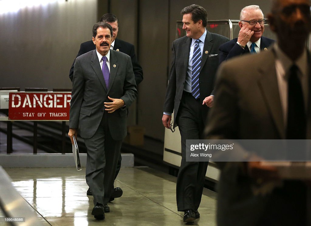 U.S. Rep. Jose Serrano (D-NY) (L) on his way for a vote at the Capitol January 15, 2013 on Capitol Hill in Washington, DC. The House is scheduled to vote on the $50.7 billion Disaster Relief Appropriations for victims of superstorm Sandy later the day.