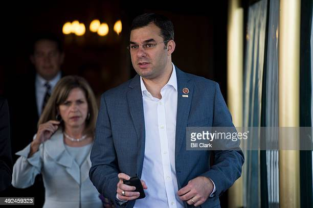 Rep Justin Amash RMich leaves the House Republican Conference meeting at the Capitol Hill Club on Tuesday May 20 2014