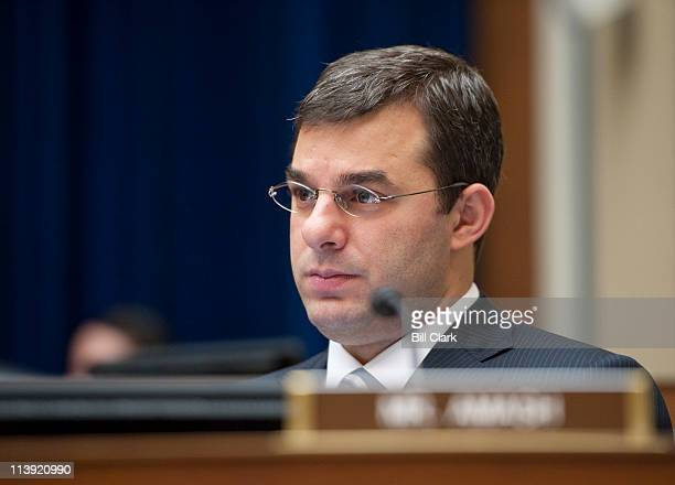 Rep Justin Amash RMich listens during the House Oversight and Government Reform Committee hearing on 'The Future of Capital Formation' on Tuesday May...