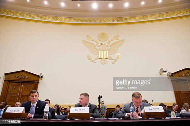 Rep Justin Amash RMich Rep Chris Gibson RNY and Rep Tom Rooney RFla testify during a House Foreign Affairs hearing for members of Congress who have...