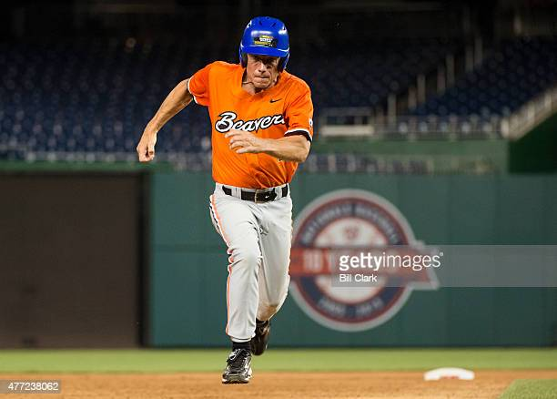 Rep Kurt Schrader DOre steals third base during the 54th Annual Roll Call Congressional Baseball Game at Nationals Park in Washington on Thursday...