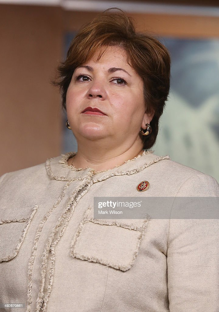 Rep. Linda Sanchez, (D-CA) participates in a news conference on Capitol Hill, May 21, 2014 in Washington, DC. House Minority Leader Nancy Pelosi named Sanchez and four other Democrats to serve on the special committee looking into the 2012 attack in Benghazi, Libya.