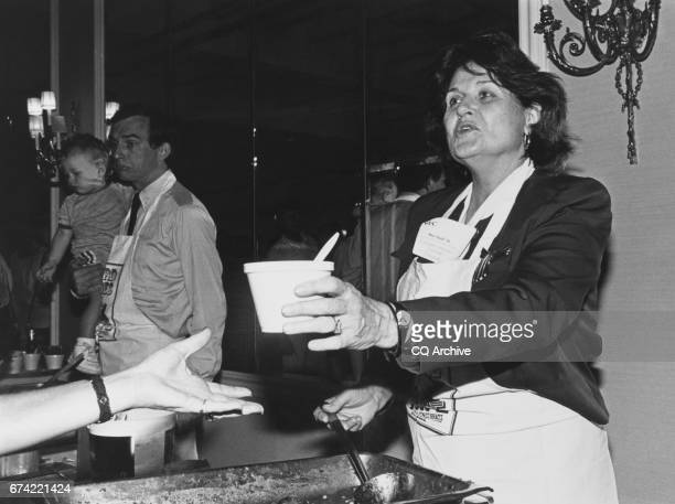 Rep Louise Slaughter DNY serves a sample of her Chili on Sep 16 1991