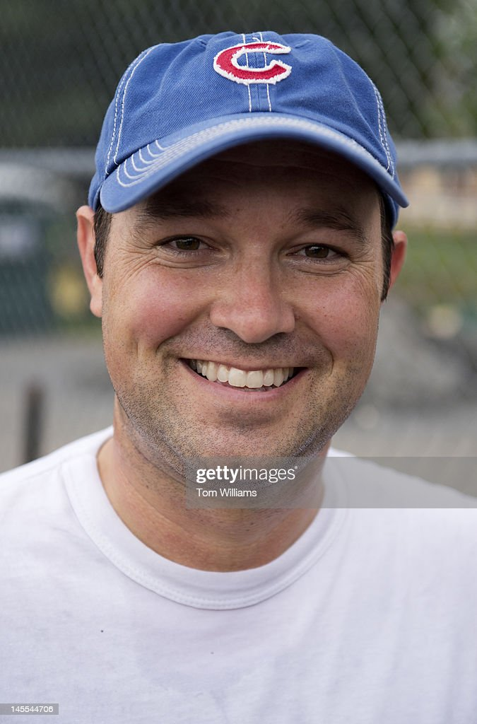Rep. Marlin Stutzman, R-Ind., is photographed at a republican baseball practice at Simpson Stadium in Alexandria, Va.