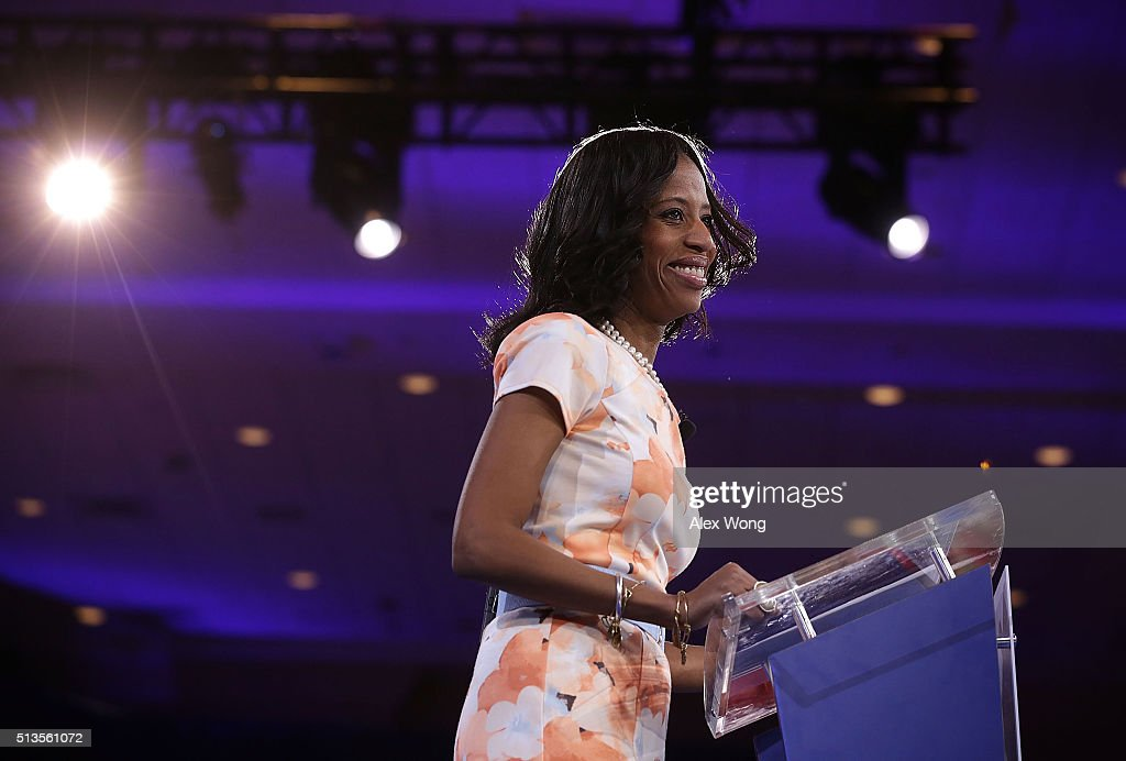 U.S. Rep. <a gi-track='captionPersonalityLinkClicked' href=/galleries/search?phrase=Mia+Love&family=editorial&specificpeople=8937528 ng-click='$event.stopPropagation()'>Mia Love</a> (R-UT) speaks during the Conservative Political Action Conference (CPAC) March 3, 2016 in National Harbor, Maryland. The American Conservative Union hosted its annual Conservative Political Action Conference to discuss conservative issues.