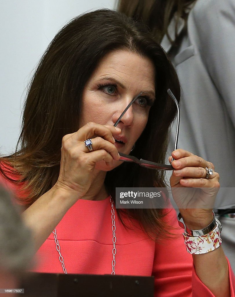 U.S. Rep. Michele Bachmann (R-MN) attends a House Financial Services Committee hearing May 22, 2013 on Capitol Hill in Washington, DC. Rep. Bachmann (R-MN) announced that she would not seek a fifth term in Congress in 2014.