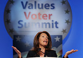 S Rep Michele Bachmann speaks at the 'Values Voter Summit' on September 17 2010 in Washington DC The Values Voter Summit is an annual conservative...