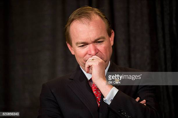 Rep Mick Mulvaney RSC participates in the Citizens Against Government Waste press conference to release the 2016 Congressional Pig Book report on...