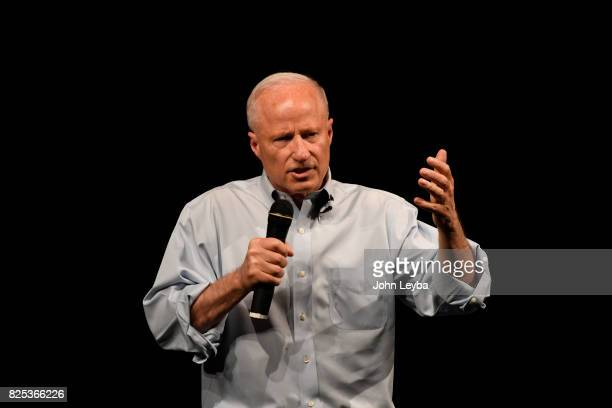 S Rep Mike Coffman answers questions during his town hall at Prairie View High School in on August 1 2017 Henderson