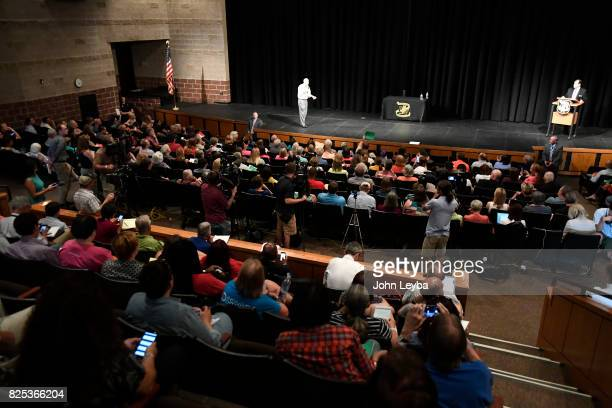 S Rep Mike Coffman holds a town hall at Prairie View High School in on August 1 2017 Henderson