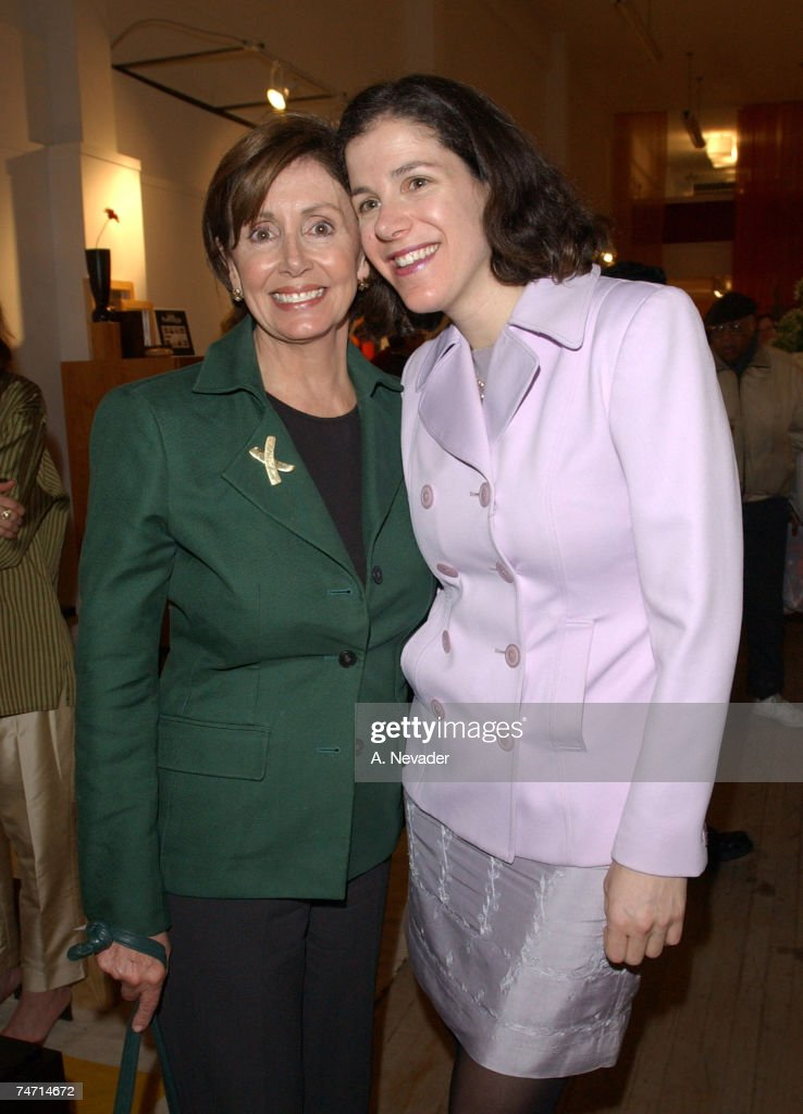 Rep. Nancy Pelosi, (D-San Francisco) and daughter Alexandra Pelosi, director of 'Journeys with George' at the Max Furniture and Design in San Francisco, California