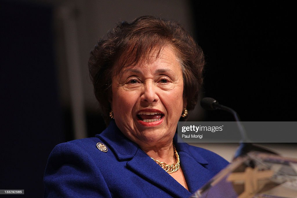 Rep Nita Lowey makes a few remarks at the All Children Reading A Grand Challenge for Development Launch at Ronald Reagan Building on November 18 2011...