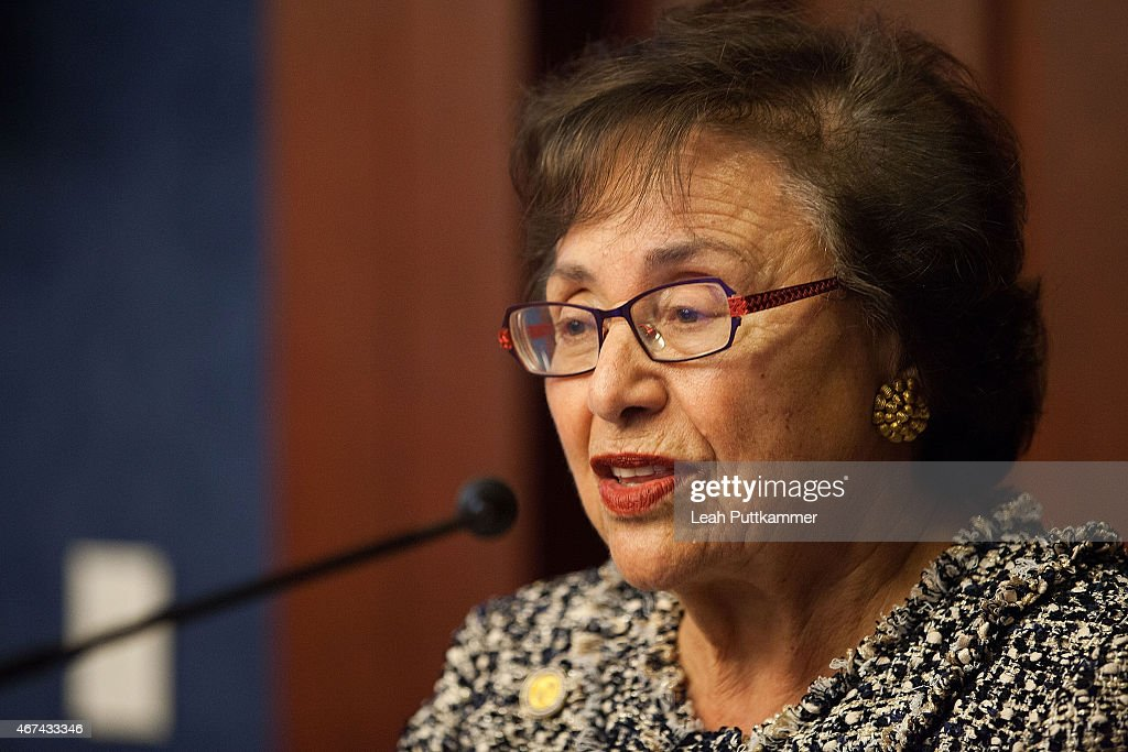S Rep Nita Lowey speaks at the amfAR Capitol Hill Conference on Women and HIV/AIDS at the US Capitol Visitor Center on March 24 2015 in Washington DC