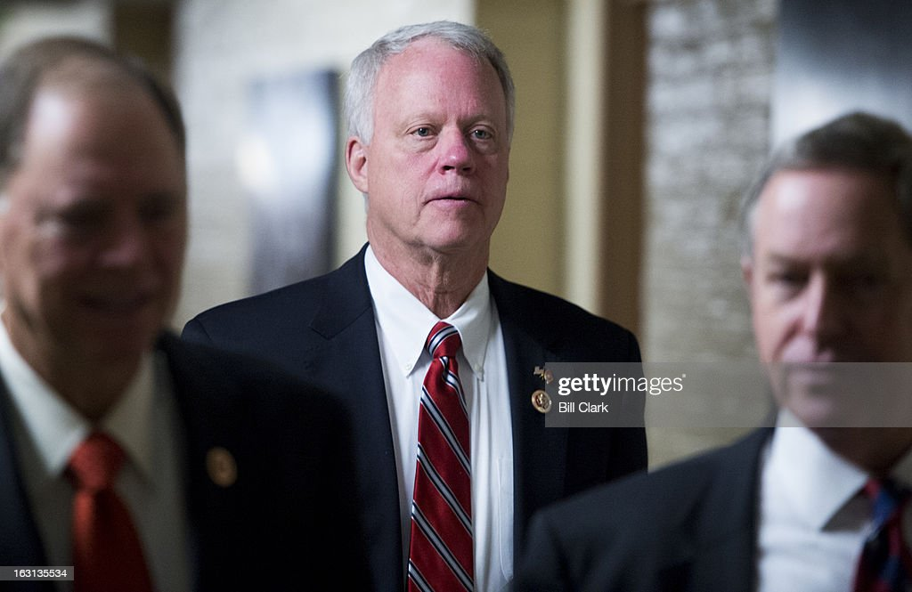 Rep. Paul Broun, R-Ga., leaves the House Republican Conference meeting in the basement of the Capitol on Tuesday, March 5, 2013.