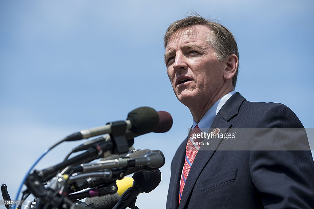 Rep Paul Gosar RAriz speaks during a news conference at the House Triangle on immigration reform on Tuesday May 14 2013