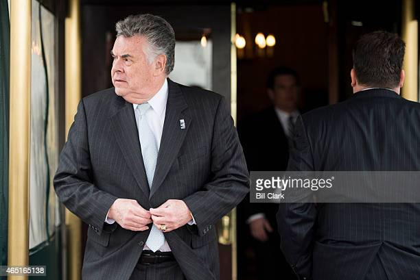 Rep Peter King RNY leaves the House Republican Conference meeting at the Capitol Hill Club in Washington on Tuesday March 3 2015