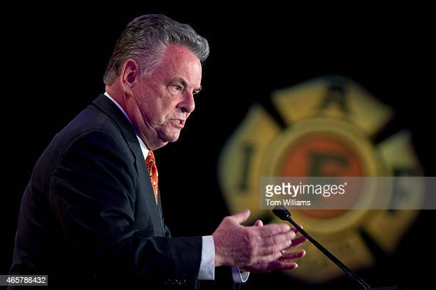 Rep Peter King RNY speaks during the IAFF's Presidential Forum at the Hyatt Regency on Capitol Hill March 10 2015 The day featured addresses by...