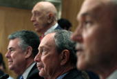Rep Peter King Sen Frank Lautenberg New York City Mayor Michael Bloomberg and New York City Police Commissioner Raymond Kelly participate in Senate...