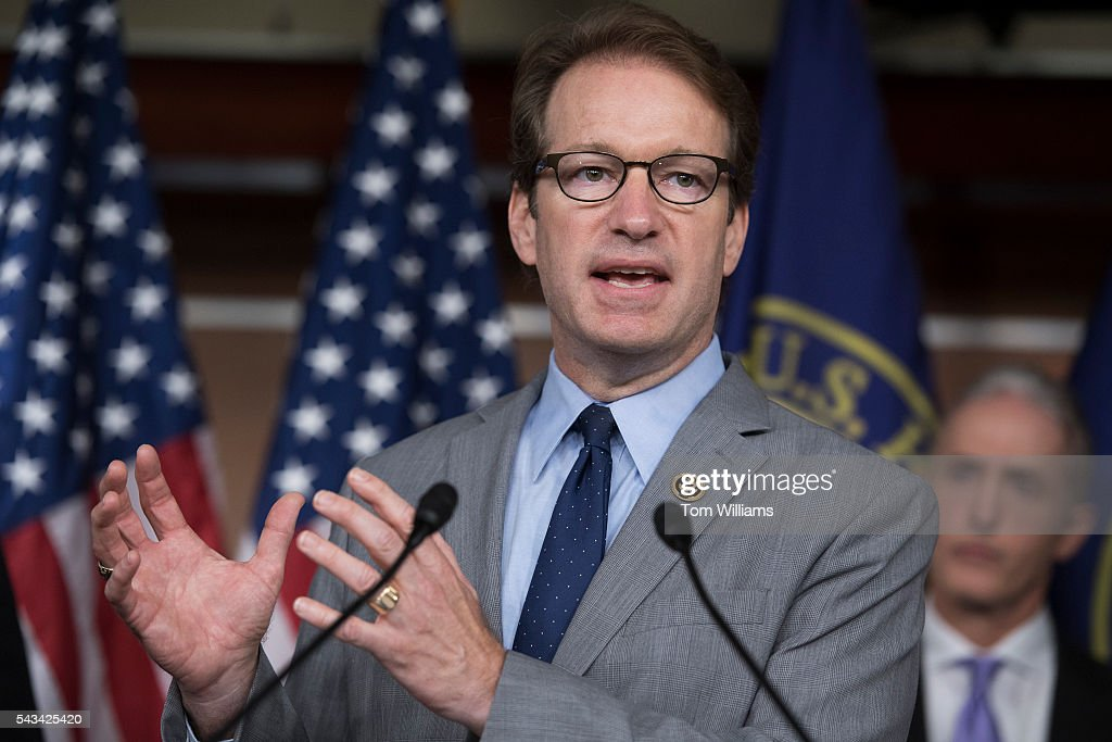 Rep. Rep. Peter Roskam, R-Ill., speaks during a news conference in the Capitol Visitor Center, June 28, 2016, to announce the Select Committee on Benghazi report on the 2012 attacks in Libya that killed four Americans. Chairman Trey Gowdy, R-S.C., also appears.