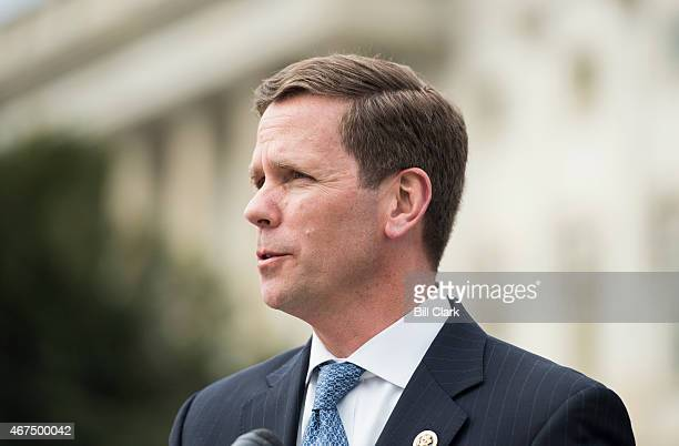 Rep Robert Dold RIll holds a news conference outside the Capitol on Wednesday March 25 to discuss the introduction of the 'Charlotte's Web Medical...