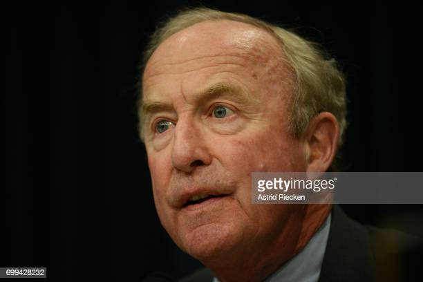 Rep Rodney Frelinghuysen questions OMB Director Mick Mulvaney about his budget during a Financial Services and General Government Subcommittee...