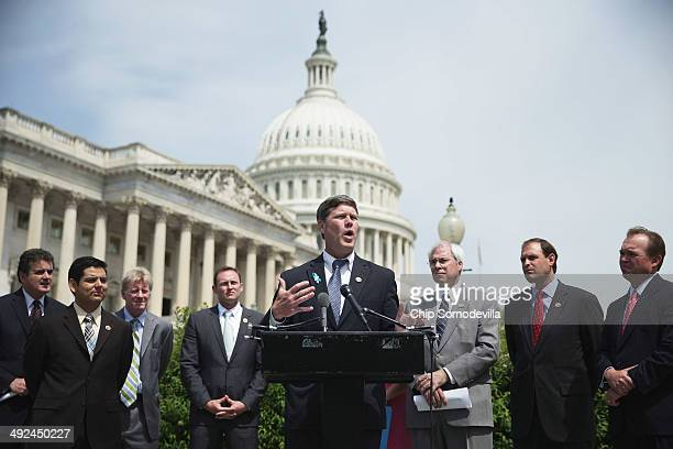 S Rep Ron Kind speaks during a news conference with a bipartisan group of House members outside the US Capitol May 20 2014 in Washington DC US Rep...