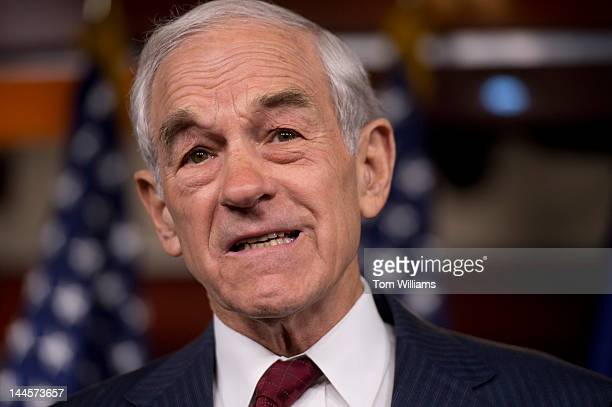 Rep Ron Paul RTexas speaks at a news conference in the Capitol Visitor Center on the SmithAmash Amendment to the FY2013 National Defense...
