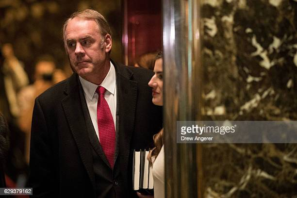 S Rep Ryan Zinke arrives at Trump Tower December 12 2016 in New York City Presidentelect Donald Trump and his transition team are in the process of...
