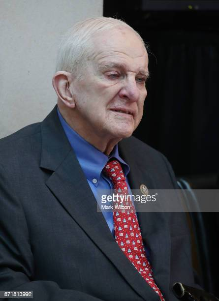 Rep Sam Johnson participates in a ceremony to honor American prisoners of war and the nearly 83000 servicemen and women missing in action at the US...
