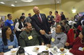 Rep Steve Pearce RNM Telesfor Gonzales at the state republican convention at the Marriott hotel in Albuquerque NM