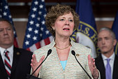 Rep Susan Brooks RInd speaks during a news conference in the Capitol Visitor Center June 28 to announce the Select Committee on Benghazi report on...