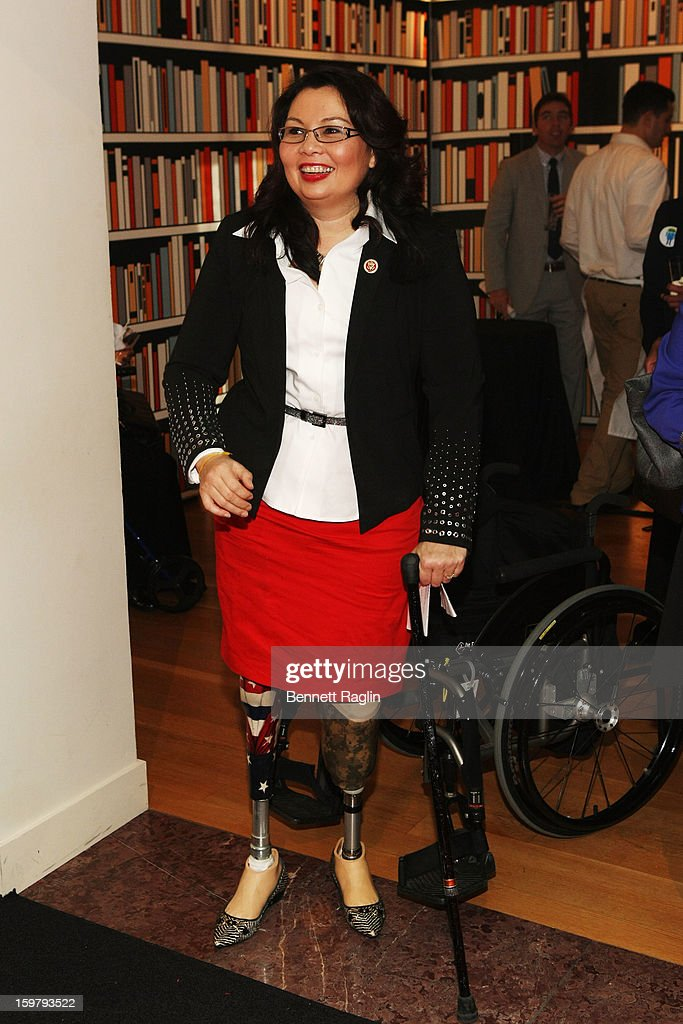 Rep. Tammy Duckworth (D-IL) attends a celebration for leading women in Washington hosted by GOOGLE, ELLE, and The Center for American Progress on January 20, 2013 in Washington, United States.