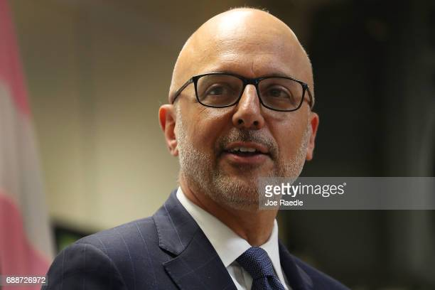 Rep Ted Deutch speaks during a discussion about LGBT rights at the Pride Center on May 26 2017 in Wilton Manors Florida The discussion centered...