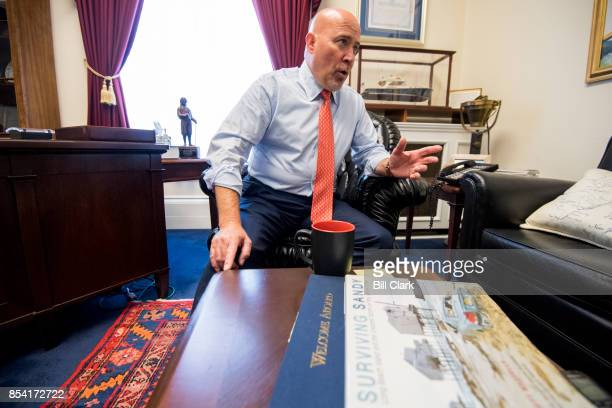 Rep Tom MacArthur RNJ speaks about the flood insurance program in his office at the Capitol on Tuesday Sept 26 2017